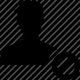 error, failed, male, man, people, user icon