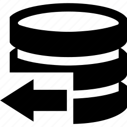 arrow, data, database, documen, left icon