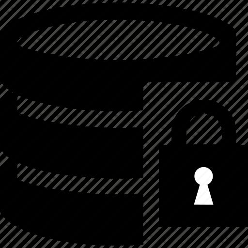 data, database, documen, lock icon