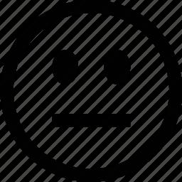 emoticon, face, moody, neutral icon