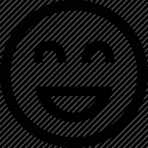 emoticon, face, laughter, smile icon