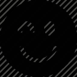 blink, emoticon, face, smile icon