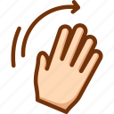 hand, palm, right, wave, waving