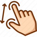 gesture, pinch, touch, zoom in icon