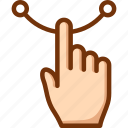 draw, finger, one, touch icon