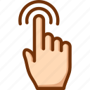 double, finger, one, tap, touch icon