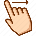 finger, one, right, swipe icon