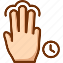 fingers, hold, tap, three, touch icon