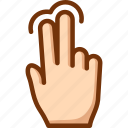 fingers, select, tap, touch, two icon