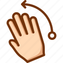 fingers, flick, four, left