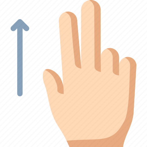fingers, swipe, two, up icon