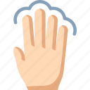 fingers, four, select, tap, touch icon