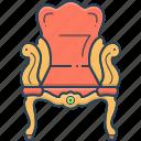 ancient, antique, chair, pedestal