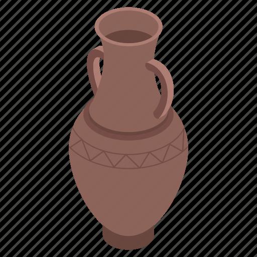 ancient vase, mud pot, museum vase, pottery, vase icon