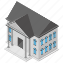 architecture, art gallery, historical site, house, museum building icon