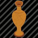 ancient vase, mud pot, museum vase, pottery, vintage vase icon