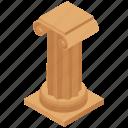 ancient column, doric column, landmark, museum, vintage pillar icon