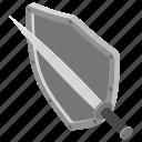 fight symbol, military shield, protection symbol, shield logo, sword shield icon