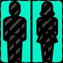 public, restroom, service, sign, toilet icon