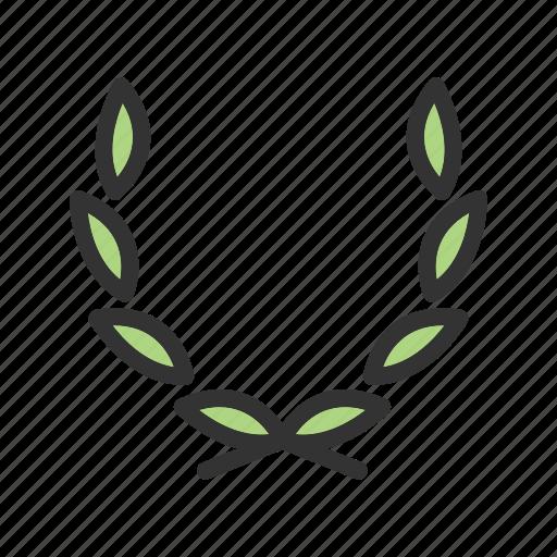 decoration, floral, flower, frame, leaf, organic, wreath icon