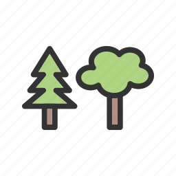 forest, green, leaves, nature, old, roots, tree icon