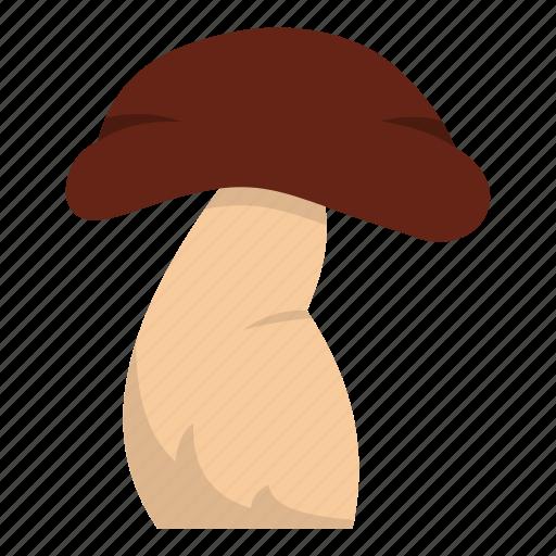 autumn, biology, bolete, brown, cap, cooking, good mushroom icon