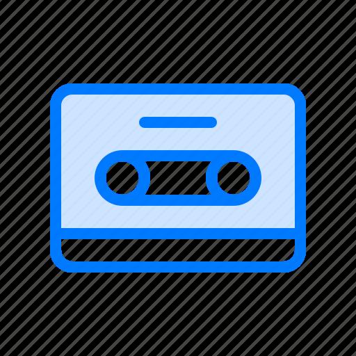 audio, cassette, multimedia, music, tape icon