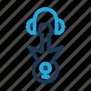 cloud, guitar, headset, music, sound, tone icon