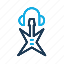 cloud, guitar, headset, music, tone icon
