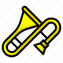 classical, instrument, jazz, musical, wind icon