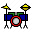 drum, instrument, music, musical, orchestra, set icon
