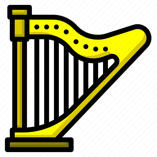 classical, cultures, harp, music, orchestra icon