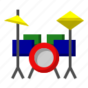 drum, instrument, music, musical, orchestra, set icon