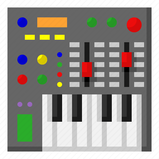instrument, keyboard, music, musical, piano, synthesizer icon