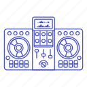 controller, dj, mixer, music, system, turntable icon