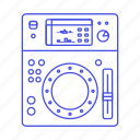 music, dj, system, turntable, mixer, controller icon