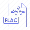 audio, digital, file, flac, format, music, sound, wave icon