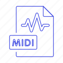 digital, file, format, midi, music, sound, wave icon