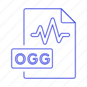 audio, digital, file, format, music, ogg, sound, wave icon