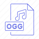 audio, digital, file, format, music, note, ogg, sound icon