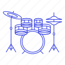 drum, instruments, music, percussion, set icon