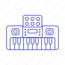 digital, electric, electronic, instruments, keyboard, music, piano icon