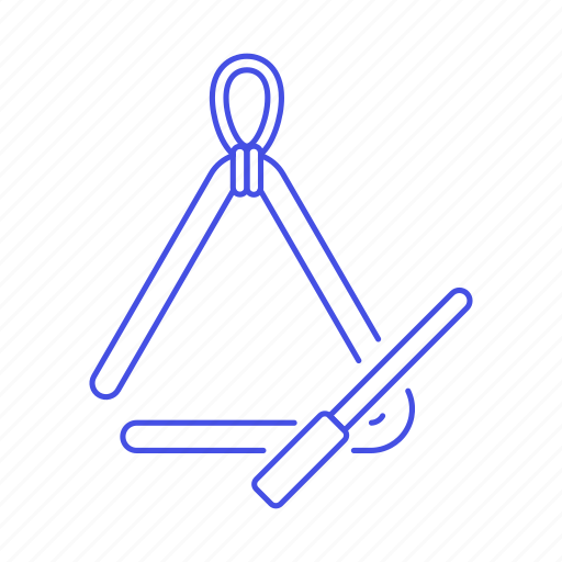 idiophone, instruments, music, percussion, triangle icon