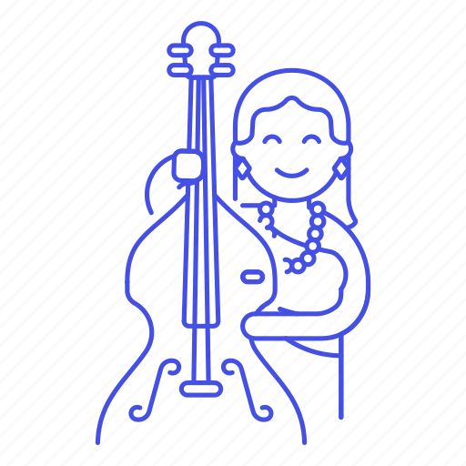 2, bass, bassist, bowed, double, female, half, music, musicians, orchestra, symphony icon