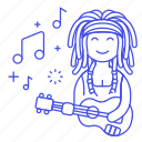 female, hawaii, jamaica, music, musicians, player, reggae, ukelele, ukulele icon