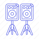 dj, music, speakers icon
