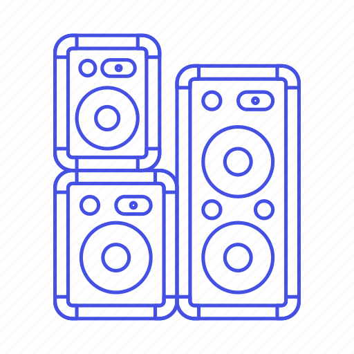 2, dj, music, speakers icon