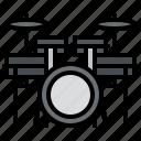 drum, music, rhythm, sound icon