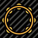 music, rhythm, sound, tambourine icon