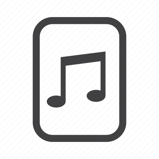music, note, playlist, song icon